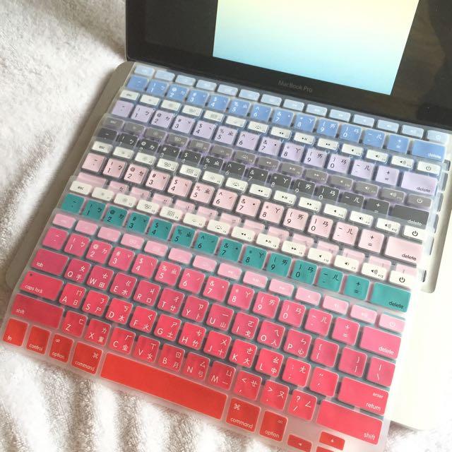 又有新色啦✔️超美漸層鍵盤膜MacBook air/pro/retina 13/15/17