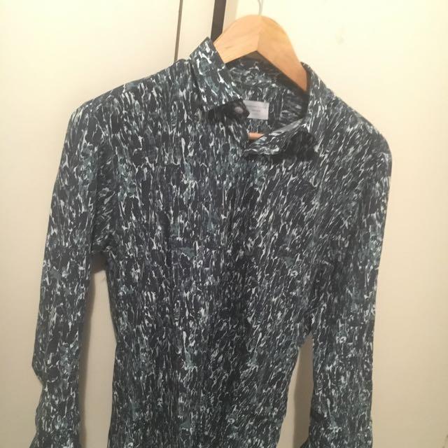 Marble Print Shirt M