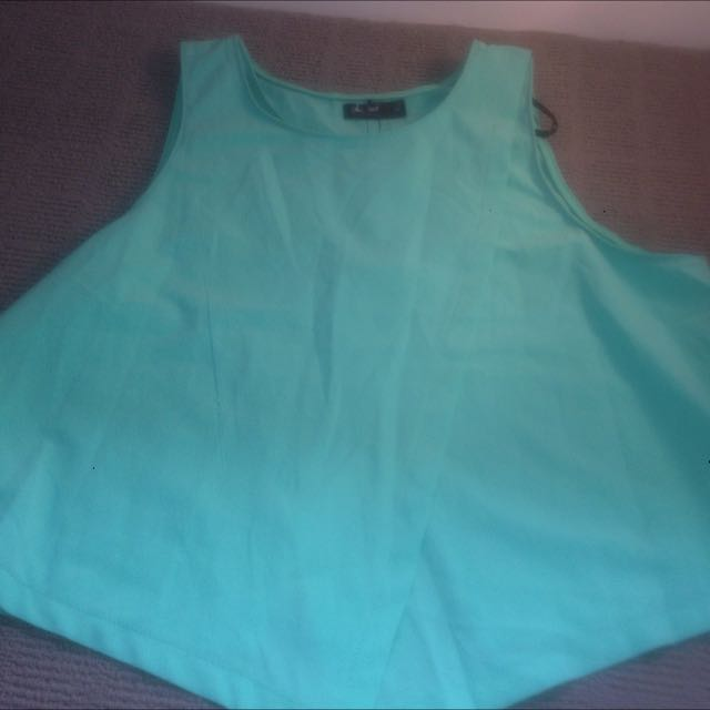 Mint Green Crop Top Size 12