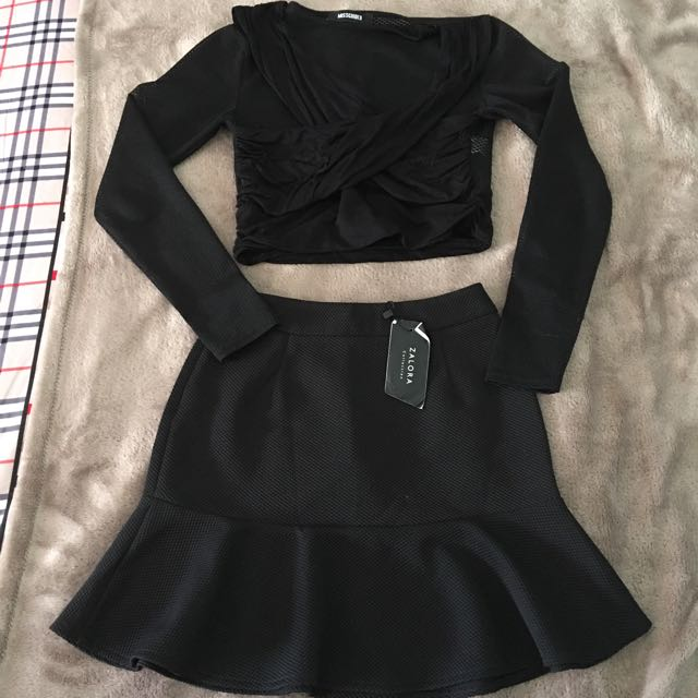 Misguided Top And Zalora Skirt