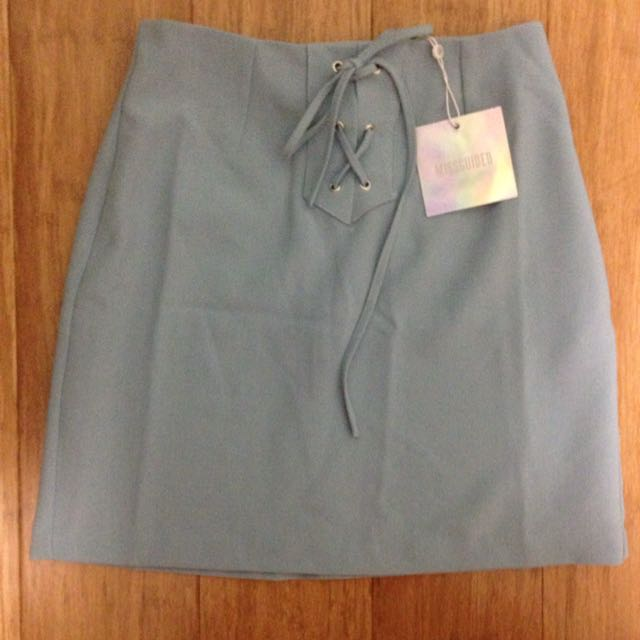 Missguided Blue Skirt