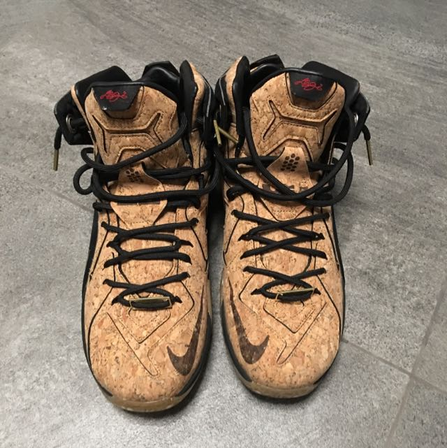 low priced a7ad0 e34c7 Nike Lebron 12 EXT Cork, Sports, Sports Apparel on Carousell