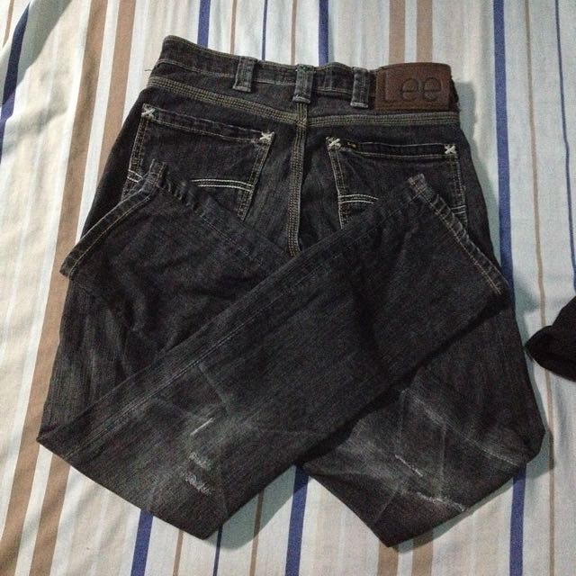 Repriced Tattered Lee Pants