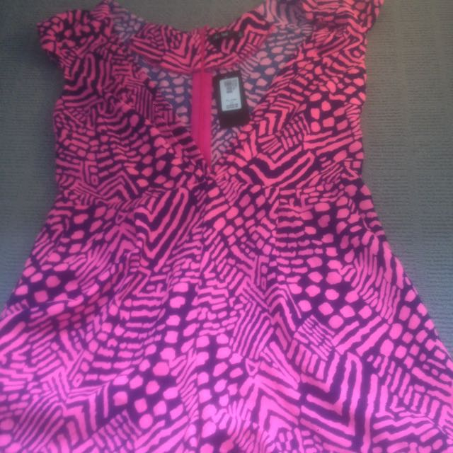 Pink & Navy Play Suit Size 12