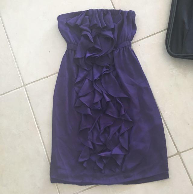 Purple Bardot Dress Size 8