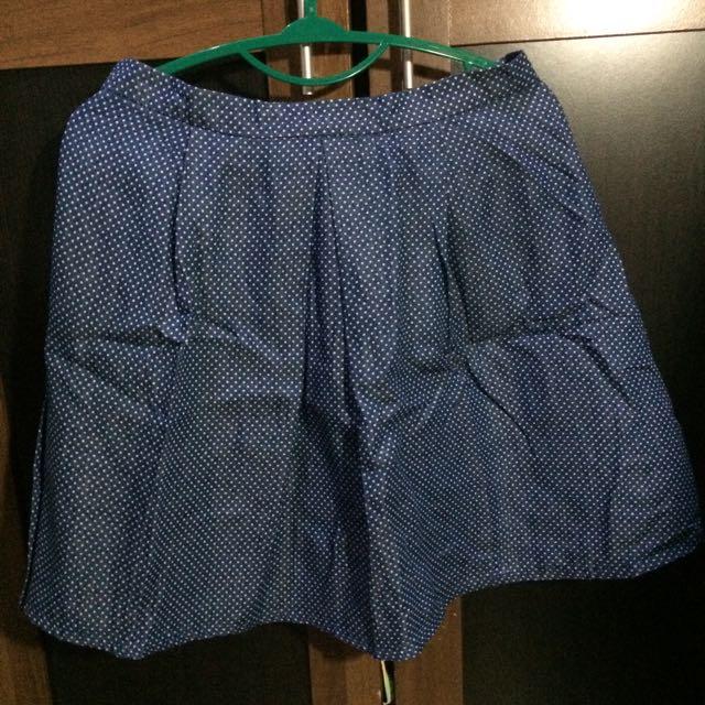 rok polka biru