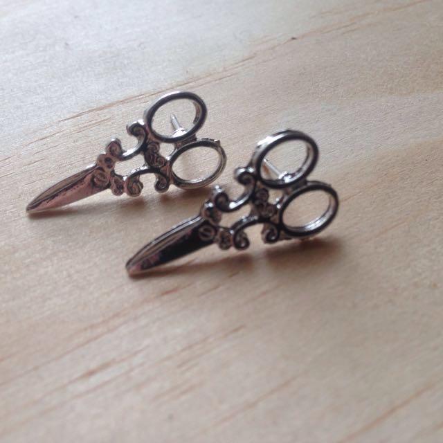 Scissor Gold / Silver Stud Earrings