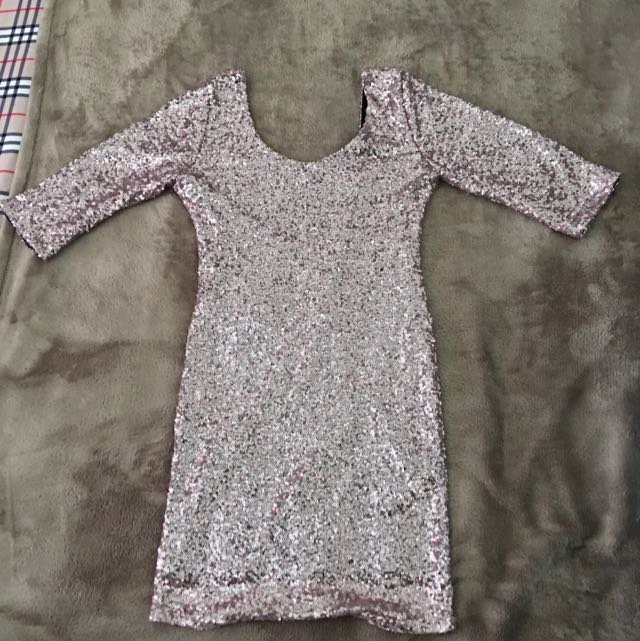 Sequin Body on Dress Size 10