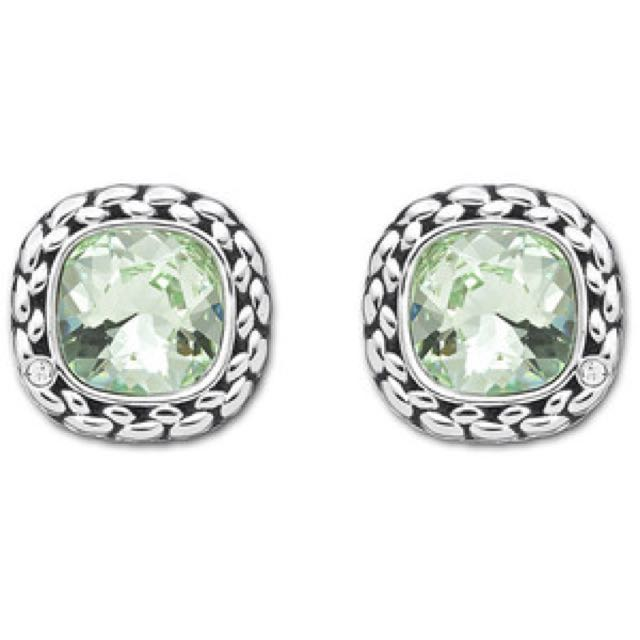 Swarovski Paprika Pierced Earrings