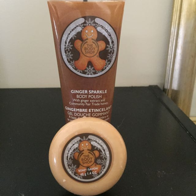 The Body Shop Ginger Sparkle Body Scrub And Soap