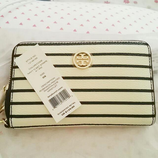 Tory Burch wallet with wrist strap