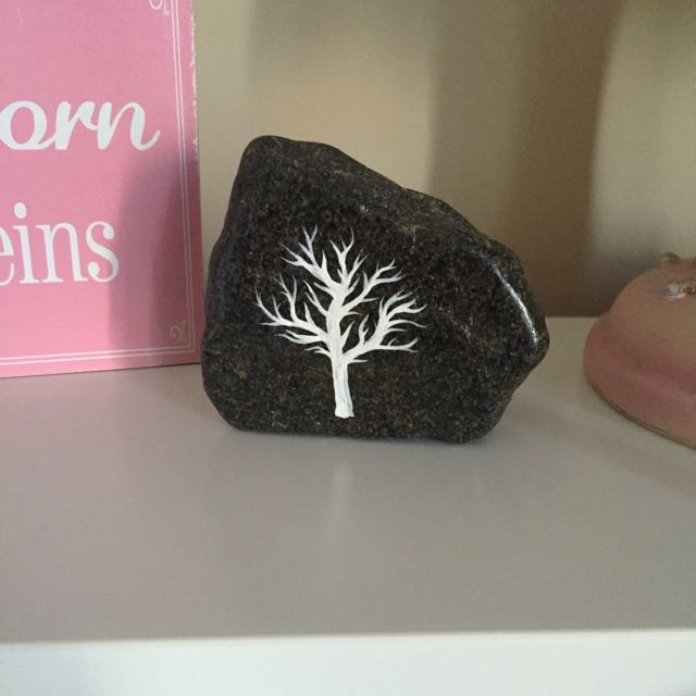 Tree Painted On Rock