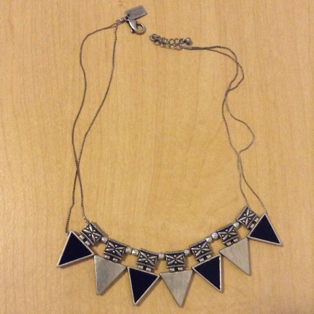 tribal like statement necklace