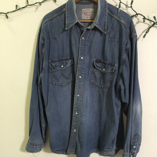 Wrangler Vintage Denim Shirt XL