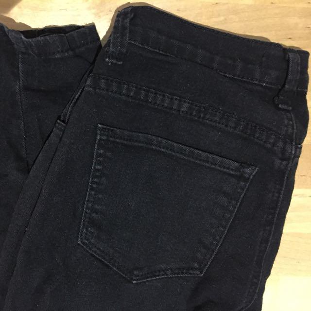 Zara Black Skinny Jeans Size 25 US
