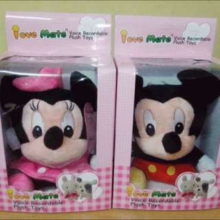 Boneka Rekam Mickey / Minnie Mouse