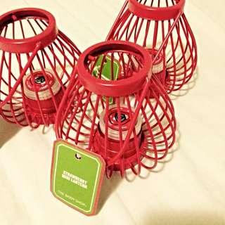 REDUCED The Body Shop Strawberry Mini Lantern Born Lippy Lip Balm
