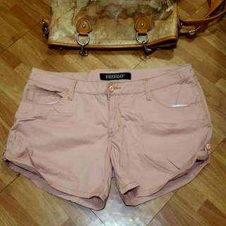 SALE    Freego Cotton Pink Shorts