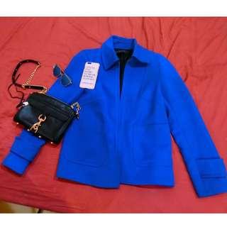 zara 寶藍色 西裝外套