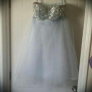 Pale Blue Baby Doll Dress