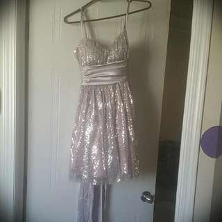 Silver/pink Party Dress