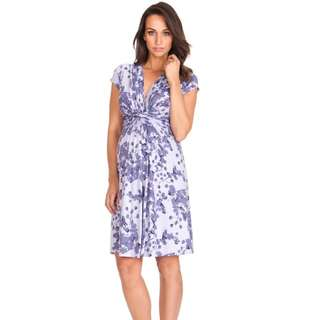 Seraphine Lavender Blossom Maternity Dress