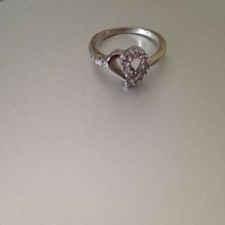 Real Sterling Silver Heart Ring