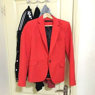 Zara woman Size S Blazer Red