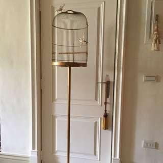 🐤古典家飾、直立式半面鳥籠,附贈兩隻蝴蝶