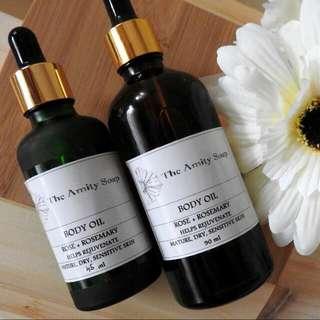 Body Oil -  Rose + Rosemary