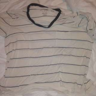 American Eagle striped shirt large