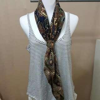主婦二手日貨 Fairfax絲巾 方巾 領巾 披巾 造型巾 日本製