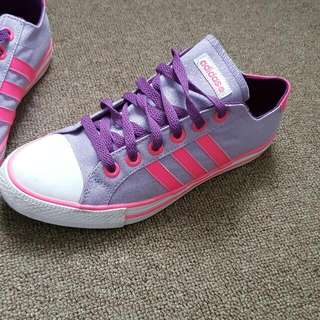 Pink And Purple Adidas Lowcut Shoes