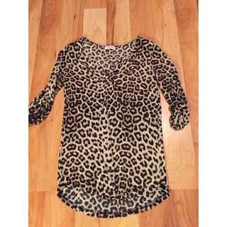 Leopard Print Half Sleeve