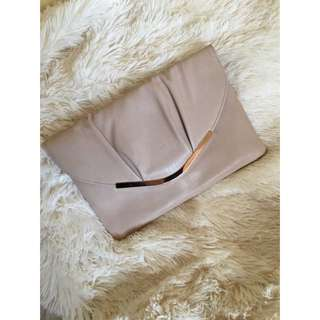 Colette Lightest Pink And Rose Gold Clutch