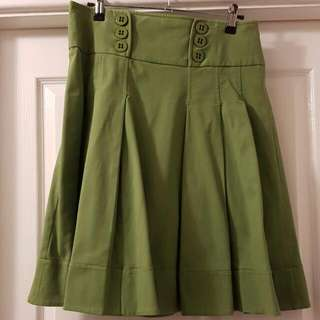 Cue Skirt - Green, Size 8