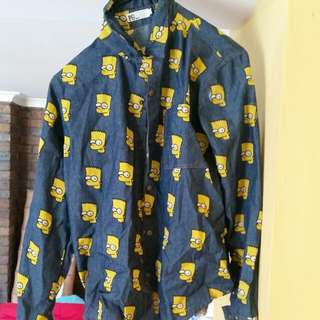 Button-up Bart Simpson Shirt