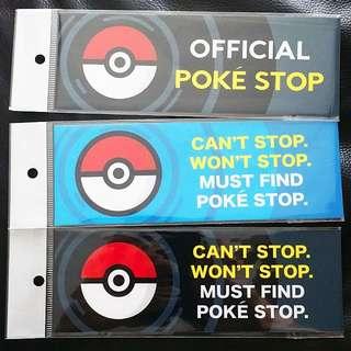 POKEMON GO Sticker. Can't Stop, Won't Stop, Must Find Pokè-Stop