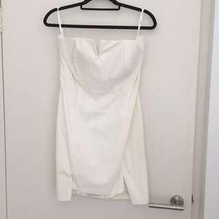 Bardot White Strapless Dress Size 14