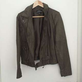 Genuine Leather Jacket Just Jeans Size 12