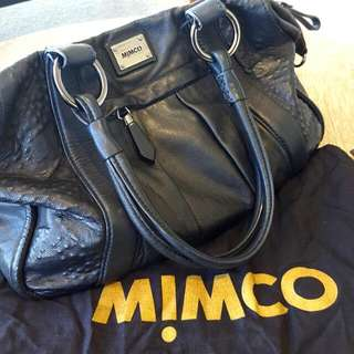 Mimco Jurassic day bag RRP$499 - Black Leather