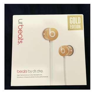 全新Urbeats 耳機 金白款 Gold Edition 二代超美