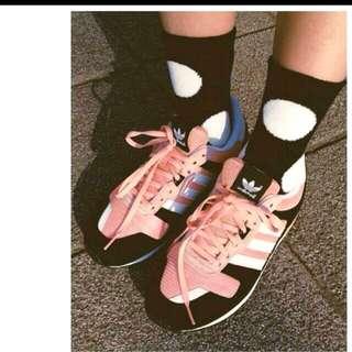 Adidas 粉黑 大學生茉莉款 38尺寸