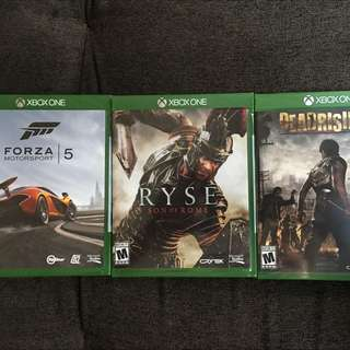 3 Xbox One Games Under Blister