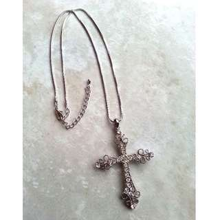 Silver Cross Pendant Necklace *New never worn*