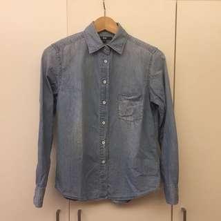淡刷色牛仔襯衫