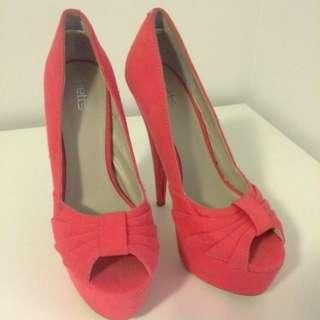 Coral Pink Pump Shoes Sz38