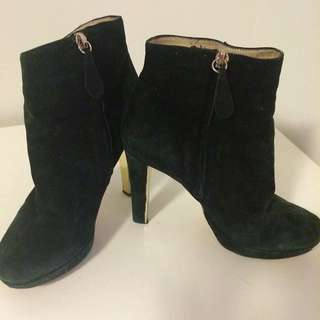 Black & Gold Boots Sz37.5 Genuine Leather