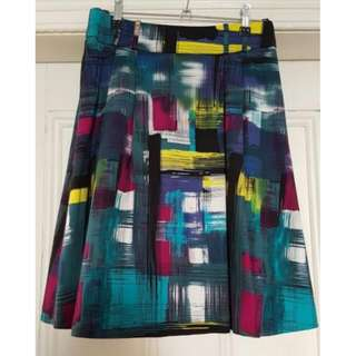 Multicoloured Review Skirt - Size 8