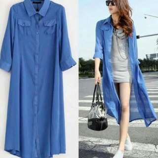 Chiffon Long Coat
